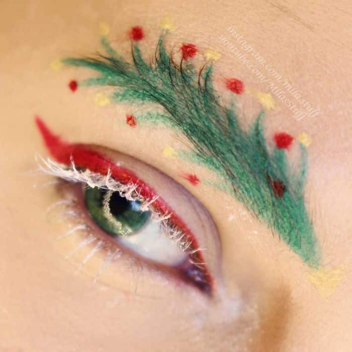 Christmas Tree Eyebrows.Christmas Tree Brows Are Now A Trend And Here S How They Do It