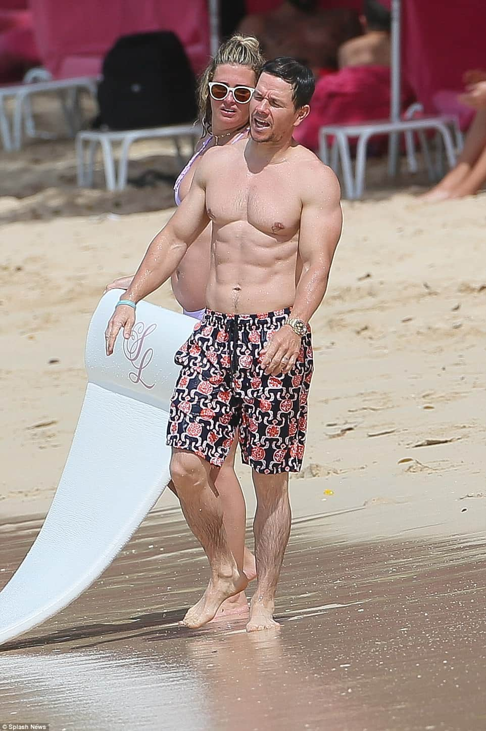 Mark Wahlberg Flaunts Six Pack In Barbados As He Makes Out ...